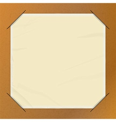 Brown paper picture holder copy space vector