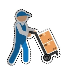 Courier delivery man vector