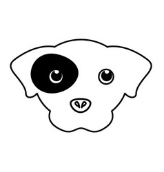 Pet dog head silhouette vector