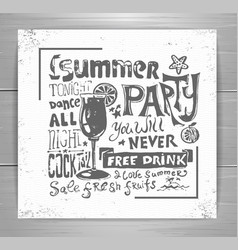 Summer poster typography background vector