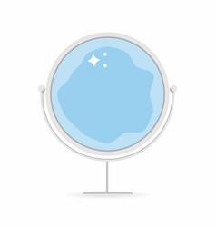 mirror icon cartoon style mirror with sparkling vector image