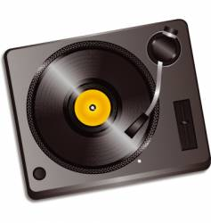 3d record deck vector image