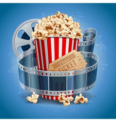Cinema still life vector