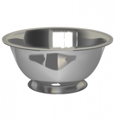 Metal bowl vector
