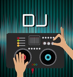 Dj design vector