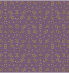 Yellow abstract flowers on the purple backdrop vector