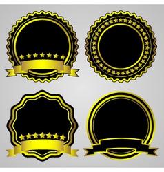 gold-framed labels set vector image
