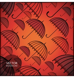 card with umbrellas vector image