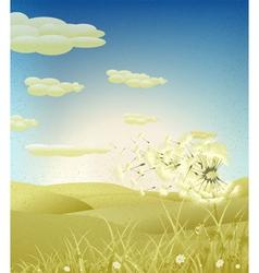 grunge spring background vector image