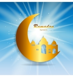 Background for muslim community festival ramadan vector
