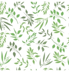 Seamless plant background endless pattern vector
