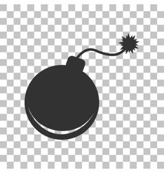 Bomb sign  dark gray icon on vector
