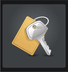 Metal keys with keychain vector