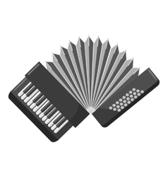 Accordion icon gray monochrome style vector