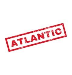 Atlantic rubber stamp vector