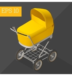 Baby carriage isometric vector