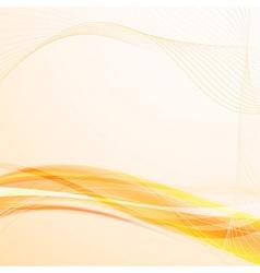 Bright solar wavy lines background vector image vector image