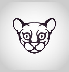 cat logo icon vector image