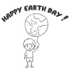 Child with world balloon design vector