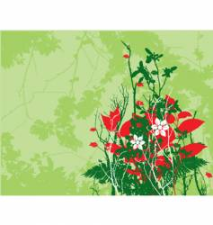christmas floral vector image vector image