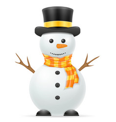 christmas snowman stock vector image vector image