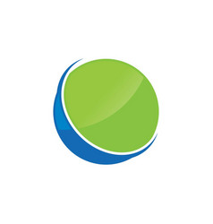 circle ring logo design vector image vector image
