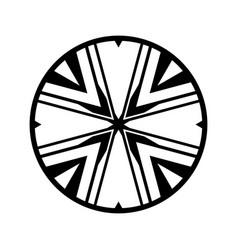 Complex tribal circle design icon vector