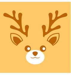 Deer antler face background vector