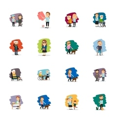 Different people set vector image
