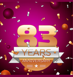 Eighty three years anniversary celebration design vector