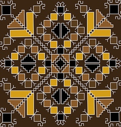 Ethnic motif in brown tones vector