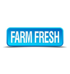 farm fresh blue 3d realistic square isolated vector image