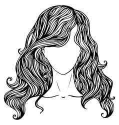 Female hand-drawn portrait vector image vector image
