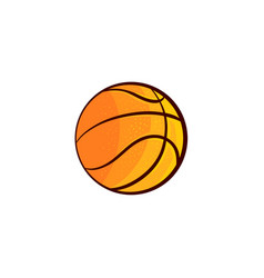 Flat sketch basketball ball isolated vector