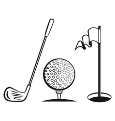 Golf icon set vector image