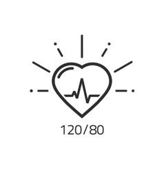 Good health outline icon blood pressure vector