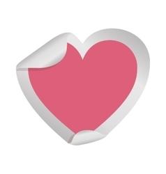heart sticker icon vector image vector image