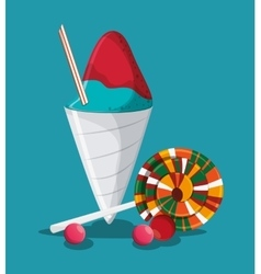 Ice cream fast and carnival food design vector