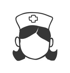 Nurse woman icon medical care design vector