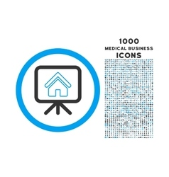Project slideshow rounded icon with 1000 bonus vector
