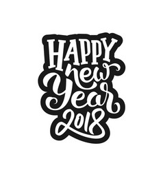 Sticker for 2018 new year of the dog vector