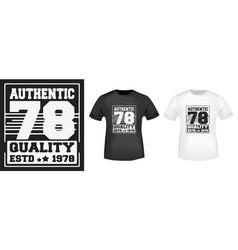 t-shirt print design vector image vector image