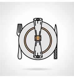 Tableware flat color icon vector image vector image
