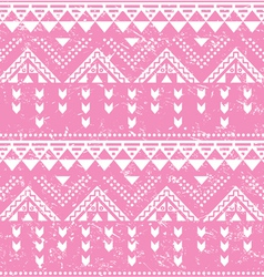 Tribal pattern pink aztec print - old grunge vector