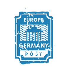 Vintage postage europe mail stamp vector