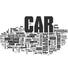 What car finance deal should you choose text word vector