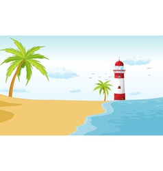 A light house vector