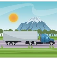 Big truck vehicle and transportation design vector