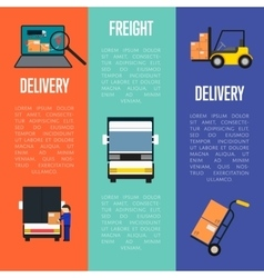 Logistics and freight delivery banners set vector