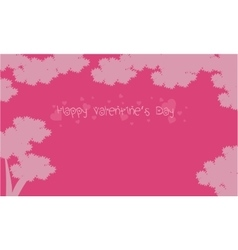 Valentine day landscape with tree backgrounds vector image